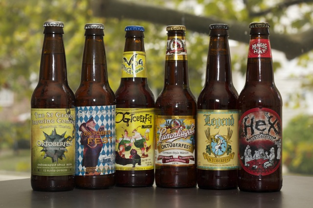 A fine example of American Oktoberfest beers; Leinenkugels, Legend, Magic Hat, Flying Dog, Stoudts, St. George Brewery